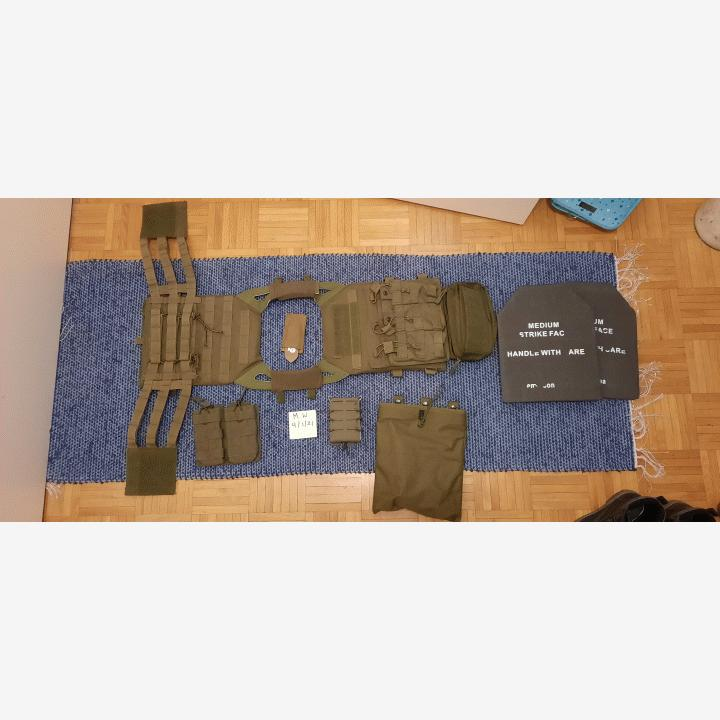 """JPC"" Plate Carrier OD + Pouches"